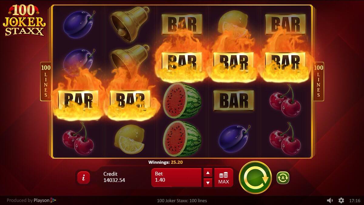 100 Joker Staxx Slot Bonus