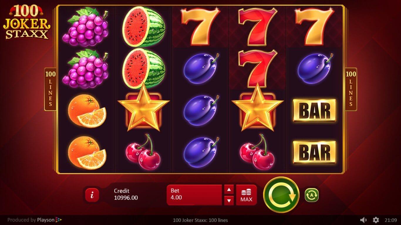 100 Joker Staxx Slot Gameplay
