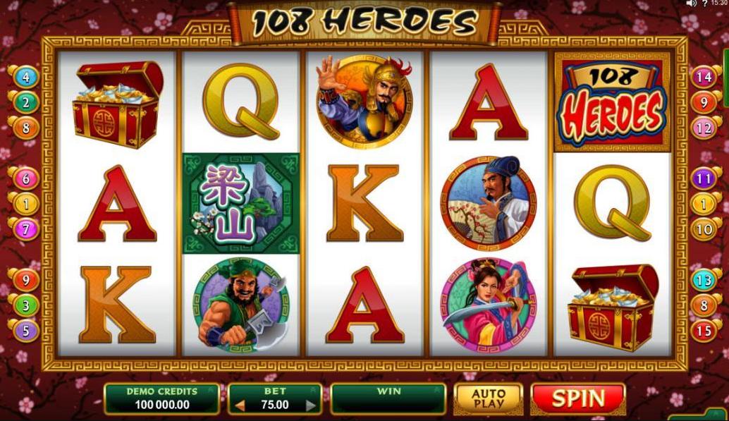 108 Heroes  Bingo Slots