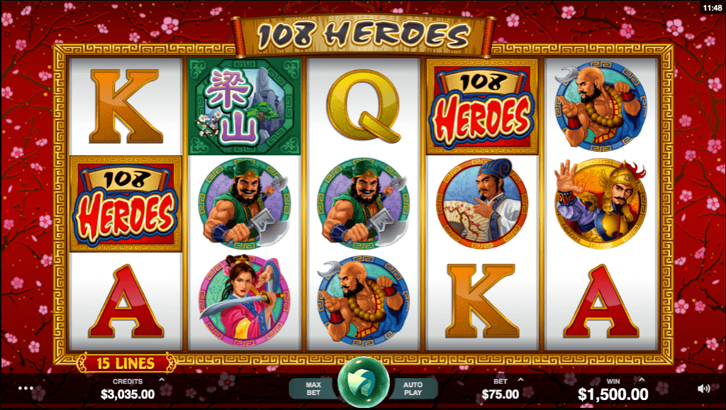 108 Heroes Casino Game Play