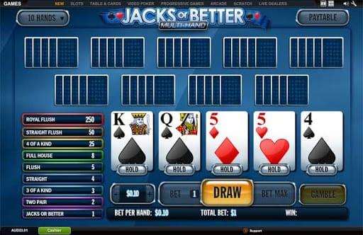 1H Jacks or Better Bonus