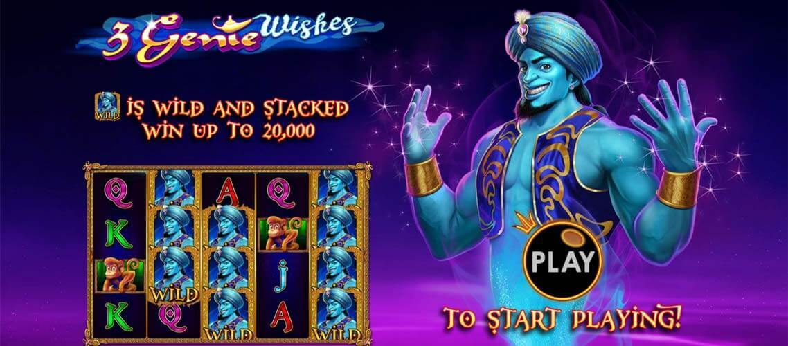 3 Genie Wishes Slot Bonus