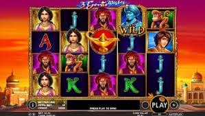 3 Genie Wishes Slot Gameplay
