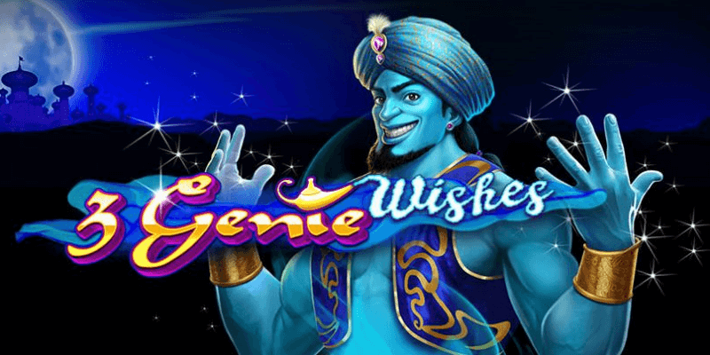 3 Genie Wishes slot UK Logo