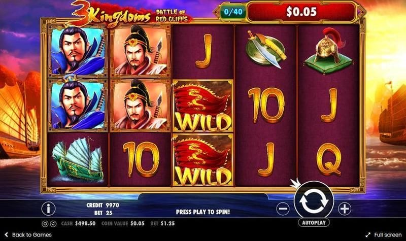 3 kingdoms battle red cliff slots game online play