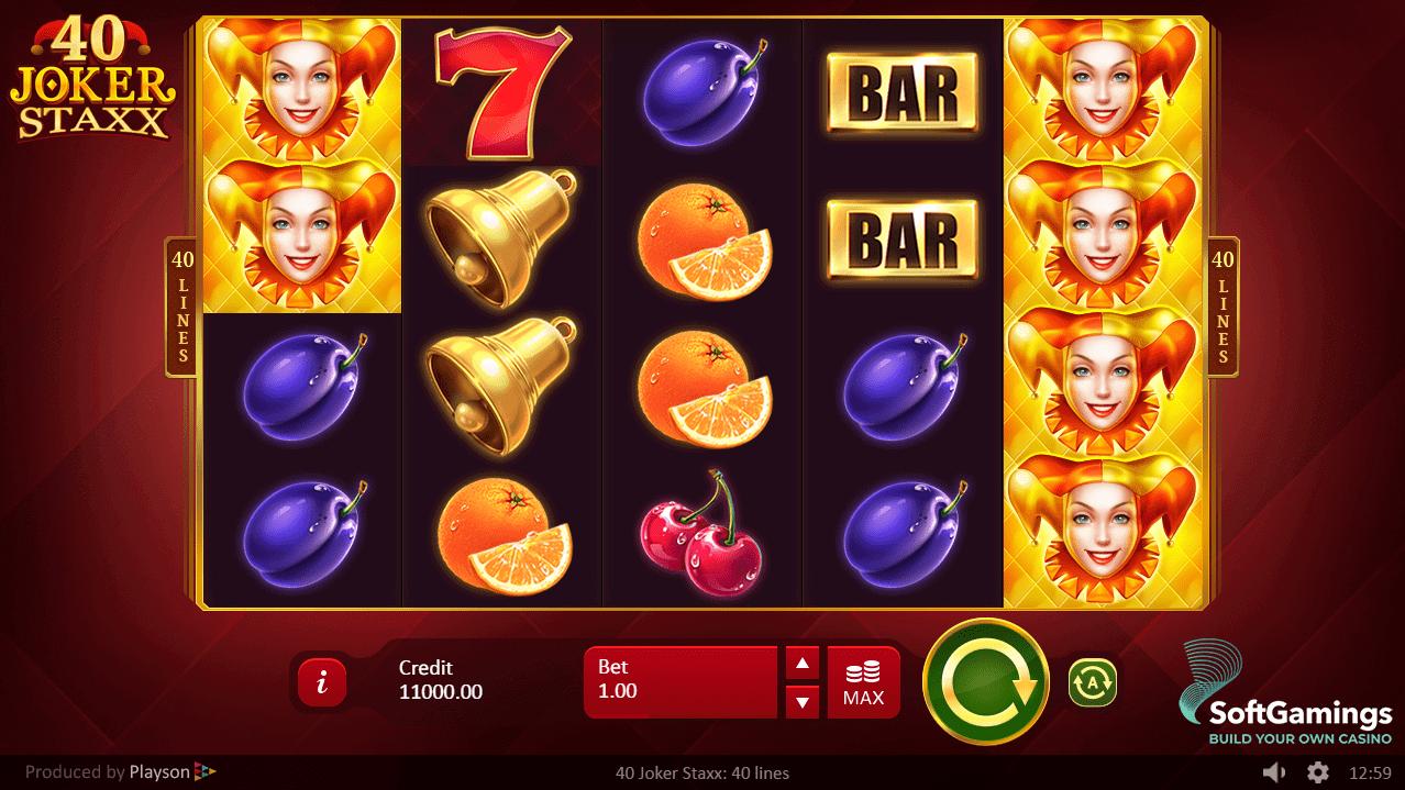 40 Joker Staxx Slot Bonus