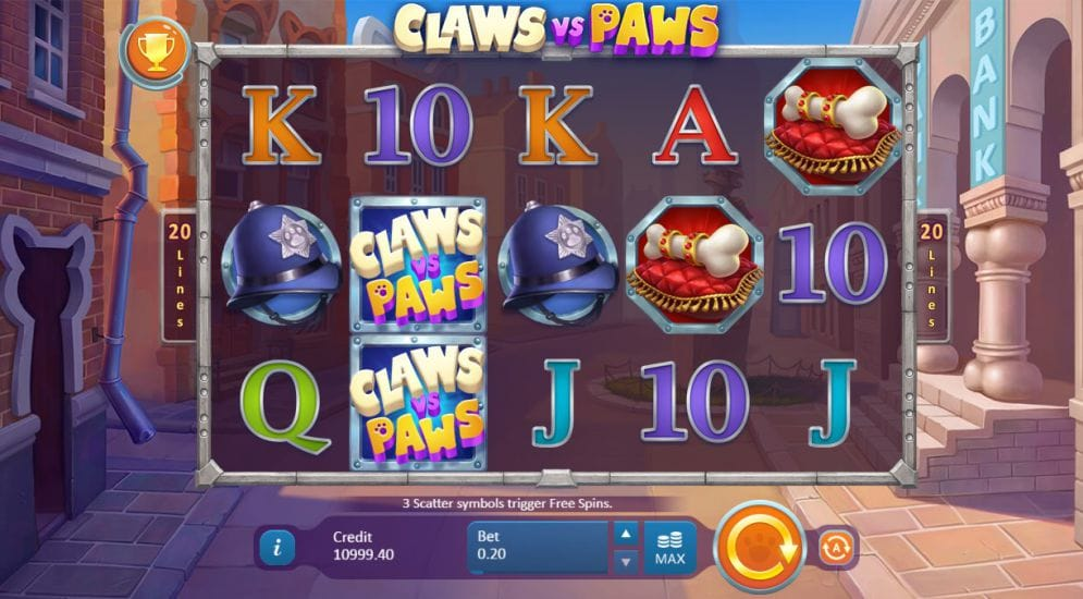 claws vs paws online slots