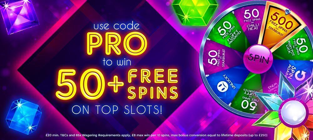 50 Free Spins Promotion - Barbados Bingo