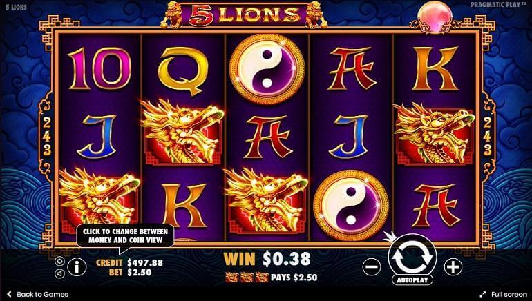 5 Lions Bonus