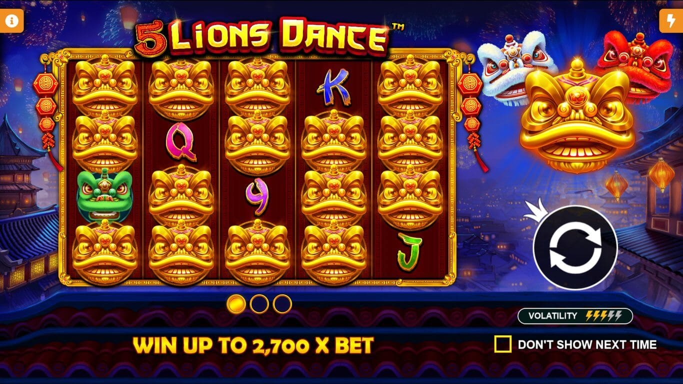 5 Lions Dance Slot Bonus