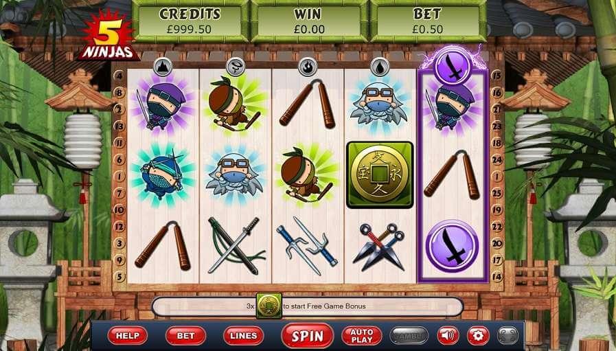 5 Ninjas Slot Bonus