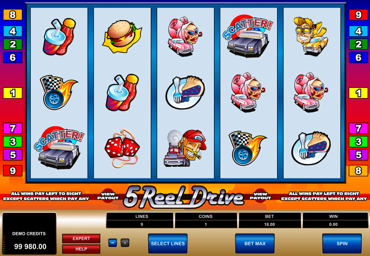 5 Reel Drive Slot Gameplay