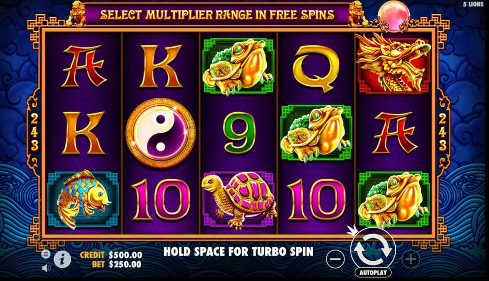 5 lions gold slot gameplay