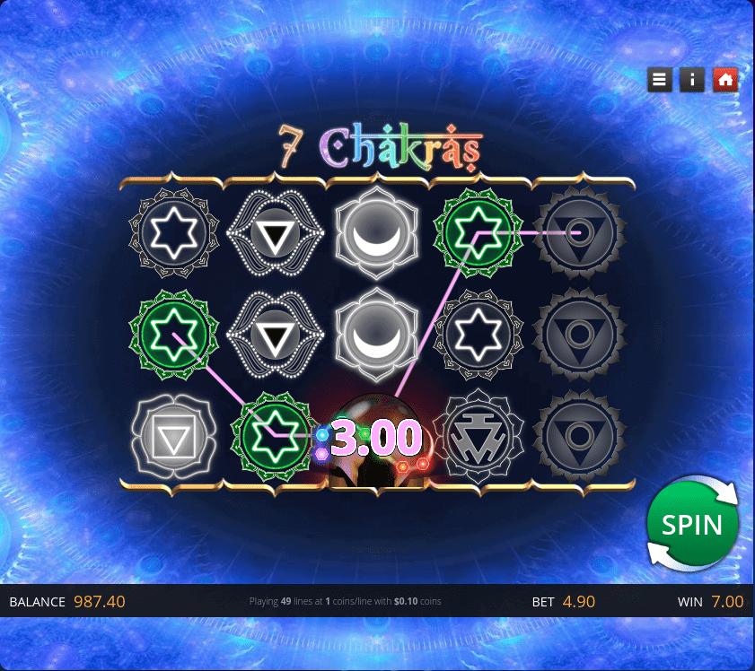 7 Chakras Slot Bonus