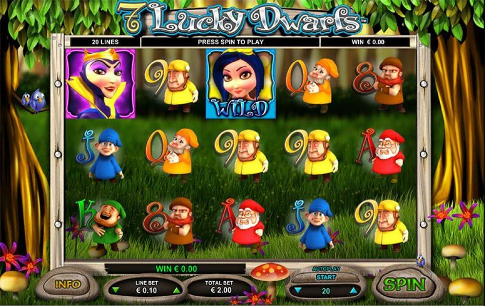 7 Lucky Dwarfs casino gameplay