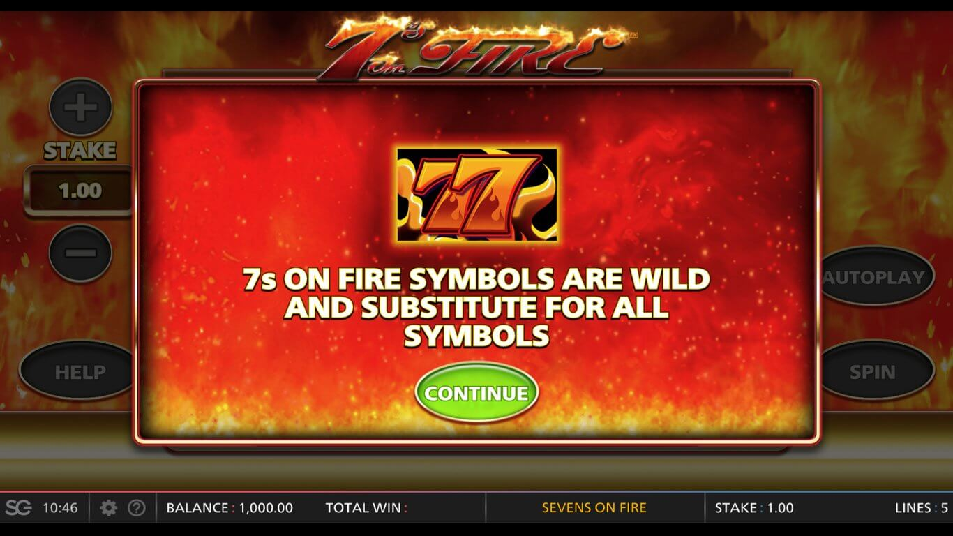 7s on Fire Slot Bonus