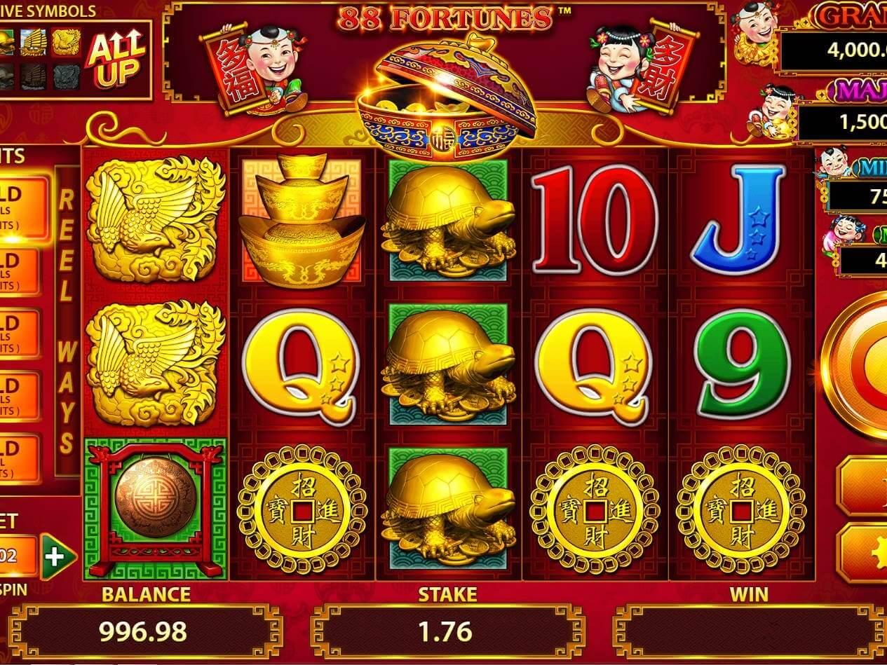 88 Fortunes Slot Bonus