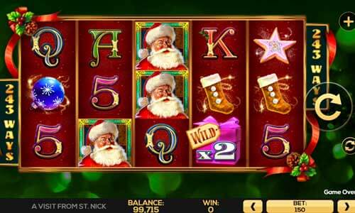 A Visit From St. Nick Slot Gameplay