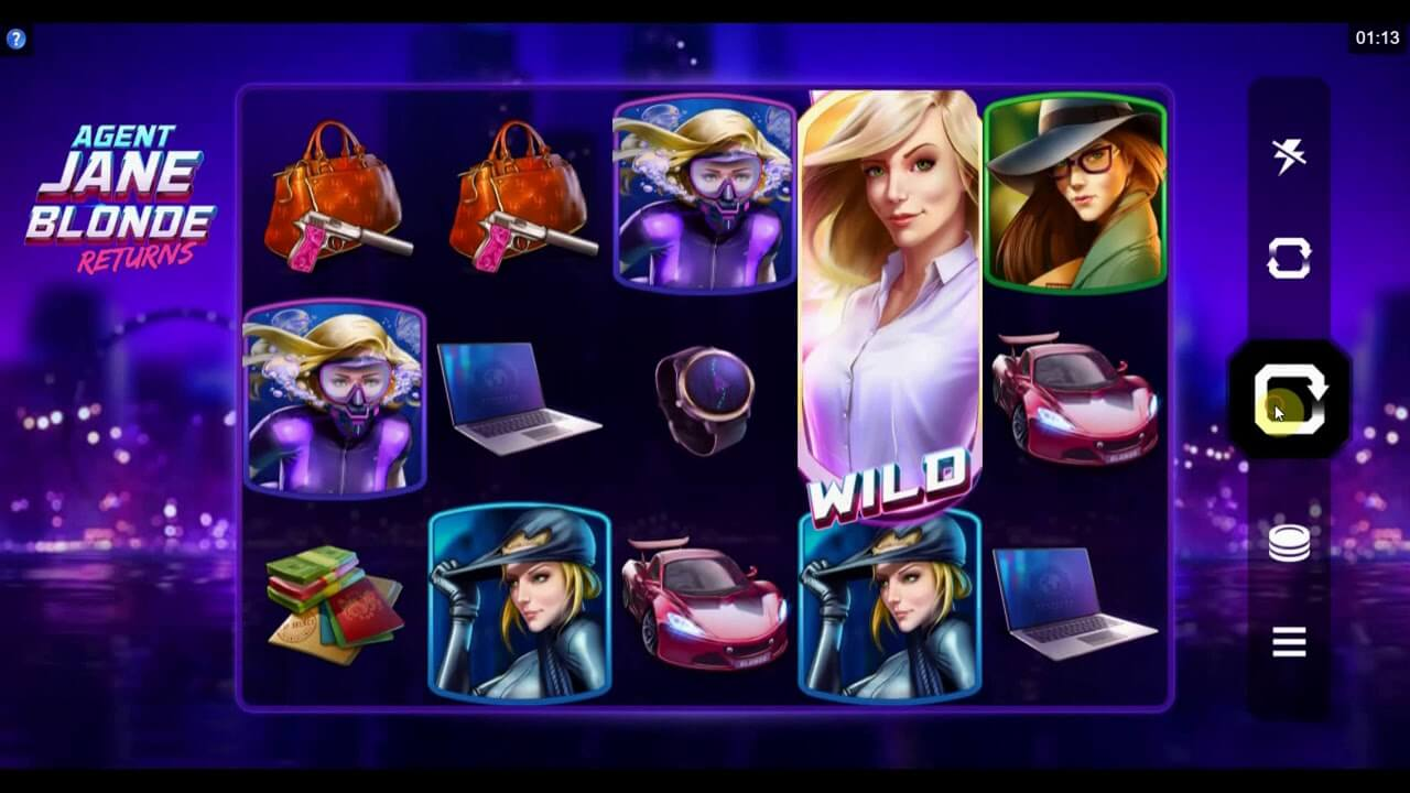 Agent Jane Blonde Returns Slot Gameplay