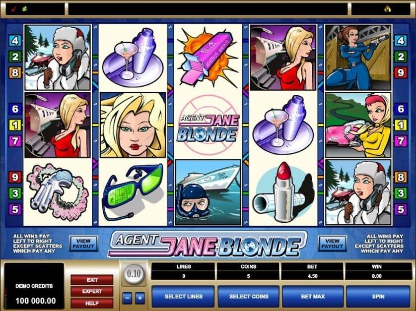Agent Jane Blonde Slot Gameplay