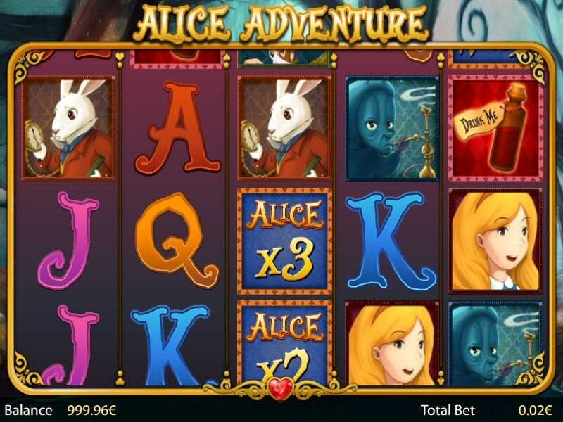 Alice Adventure Slot Bonus