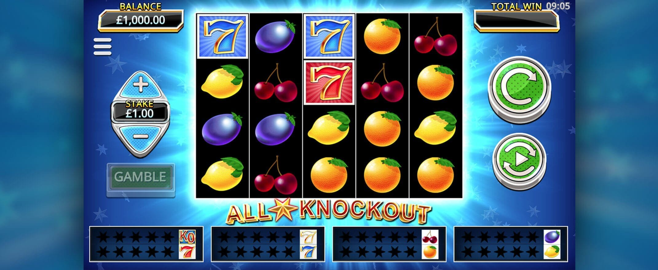 All Star Knockout Slot Gameplay