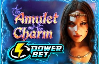 Amulet and the Charm Power Bet logo slot