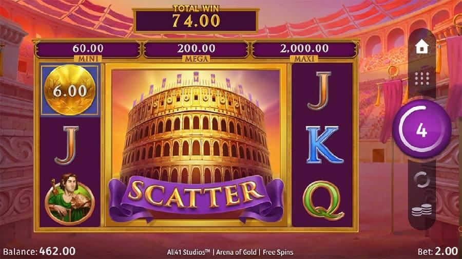 Arena of Gold Slot Bonus