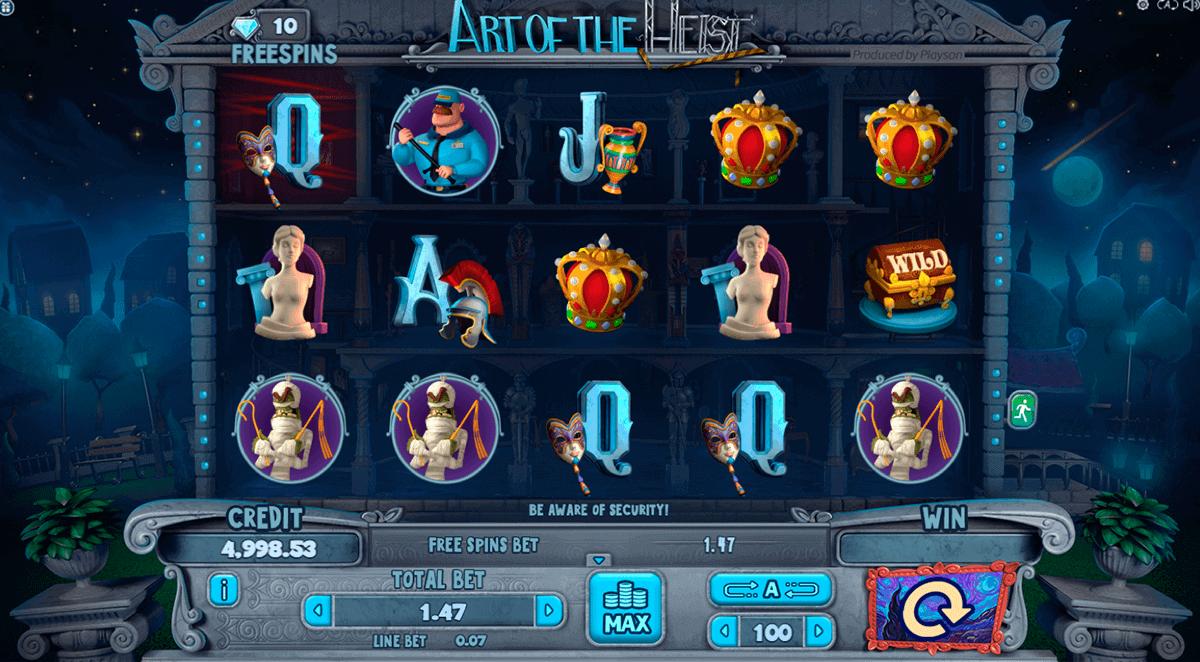 Art of the Heist Slot Gameplay