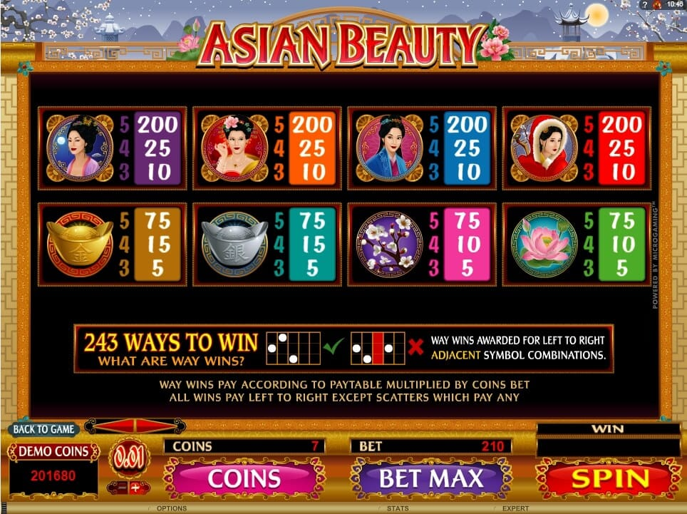 Asian Beauty Slot Bonus