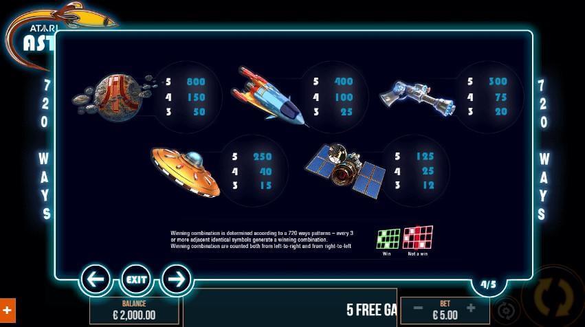 Asteroids Slot Bonus