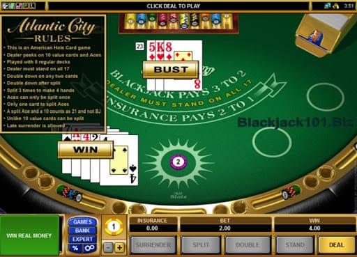 Atlantic City Blackjack S Gameplay