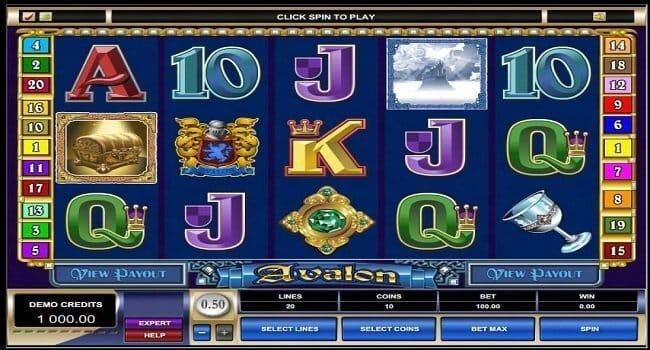 Avalon Slot Gameplay