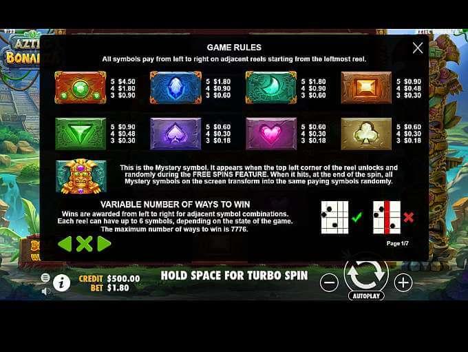 Aztec Bonanza Slot Bonus