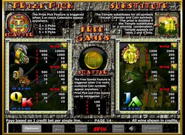 Aztec Rising Slot Bonus