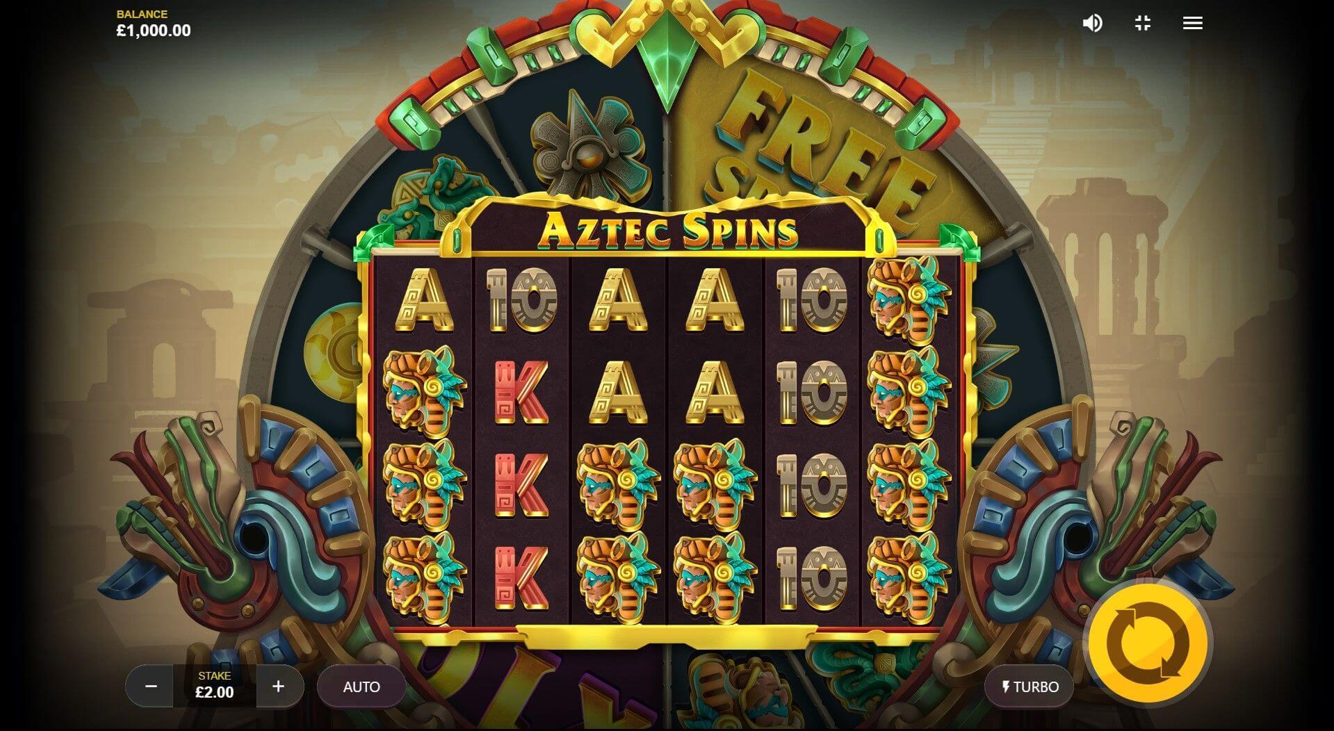 Aztec Spins Slot Gameplay