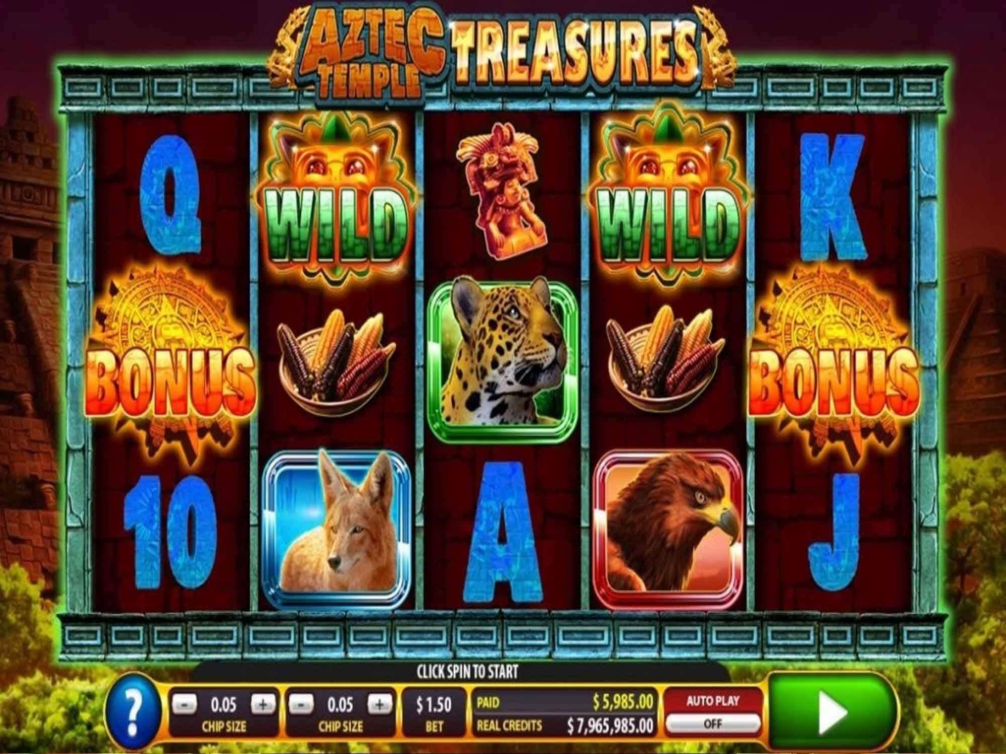 Aztec Temple Treasures Slot Bonus