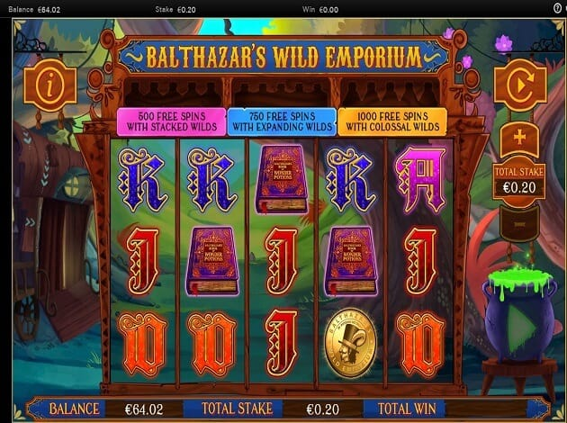Balthazars Wild Emporium Slot Gameplay