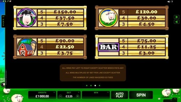 Bar Bar Black Sheep Slot Bonus