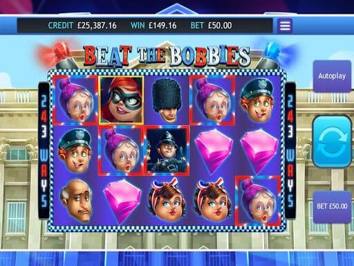 Beat the Bobbies Slot Bonus