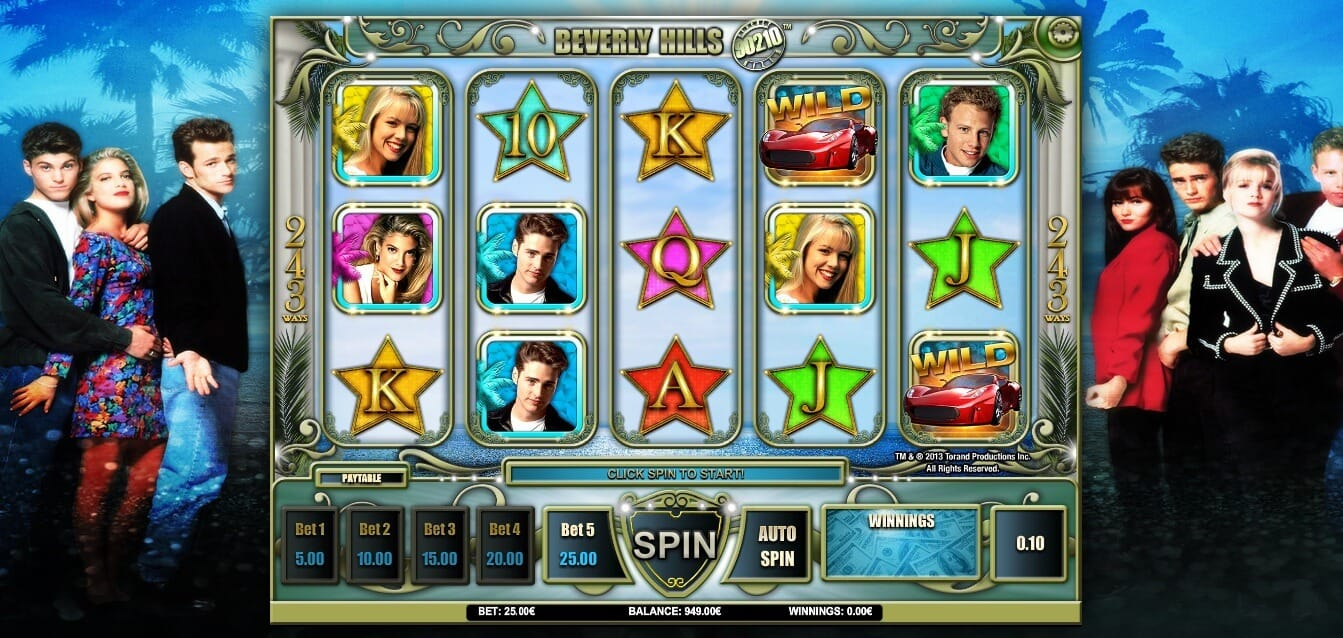 Beverly Hills 90210 Slot Gameplay