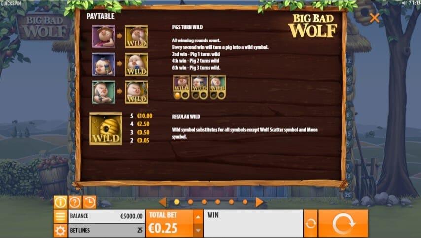 Big Bad Wolf Slot Bonus