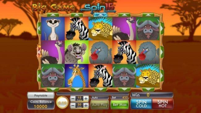 Big Game Spin 16 Slot Gameplay
