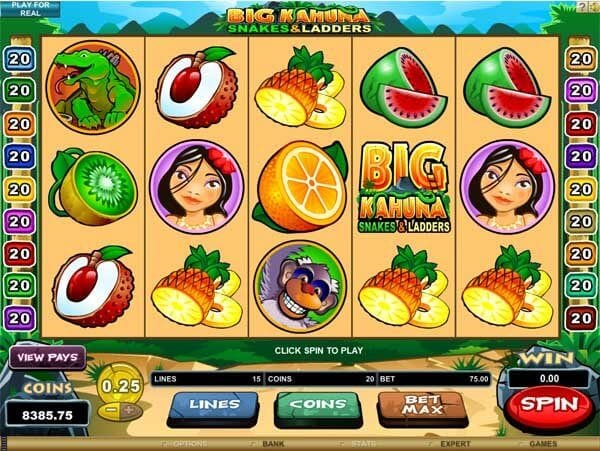 Big Kahuna Snakes and Ladders Slot Gameplay
