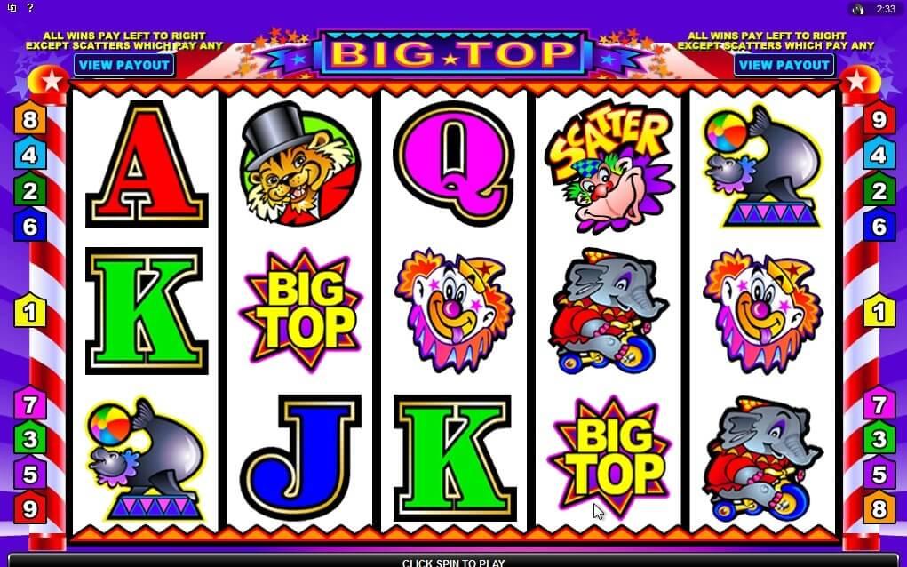 Big Top Slot Gameplay
