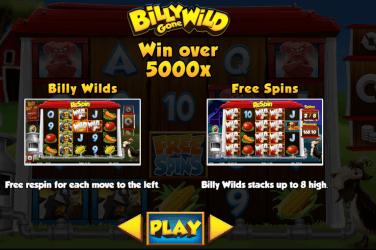 Billy Gone Wild Slot Bonus