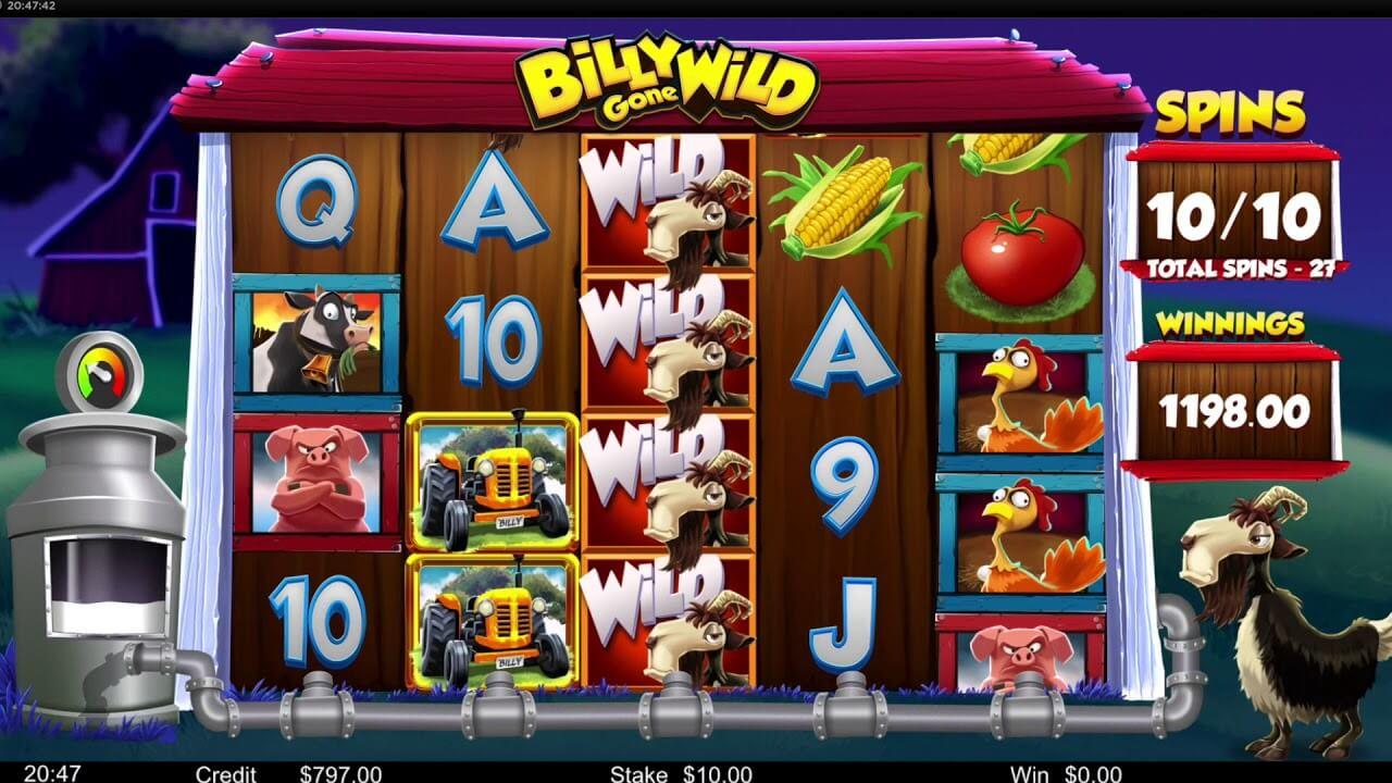 Billy Gone Wild Slot Gameplay