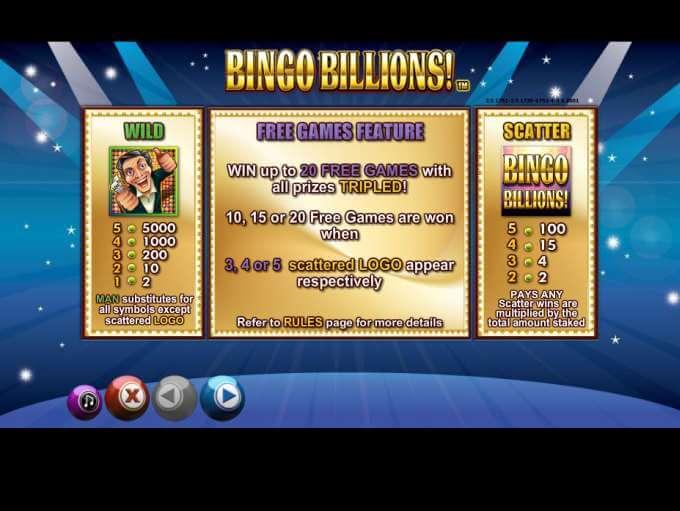 Bingo Billions Slot Bonus