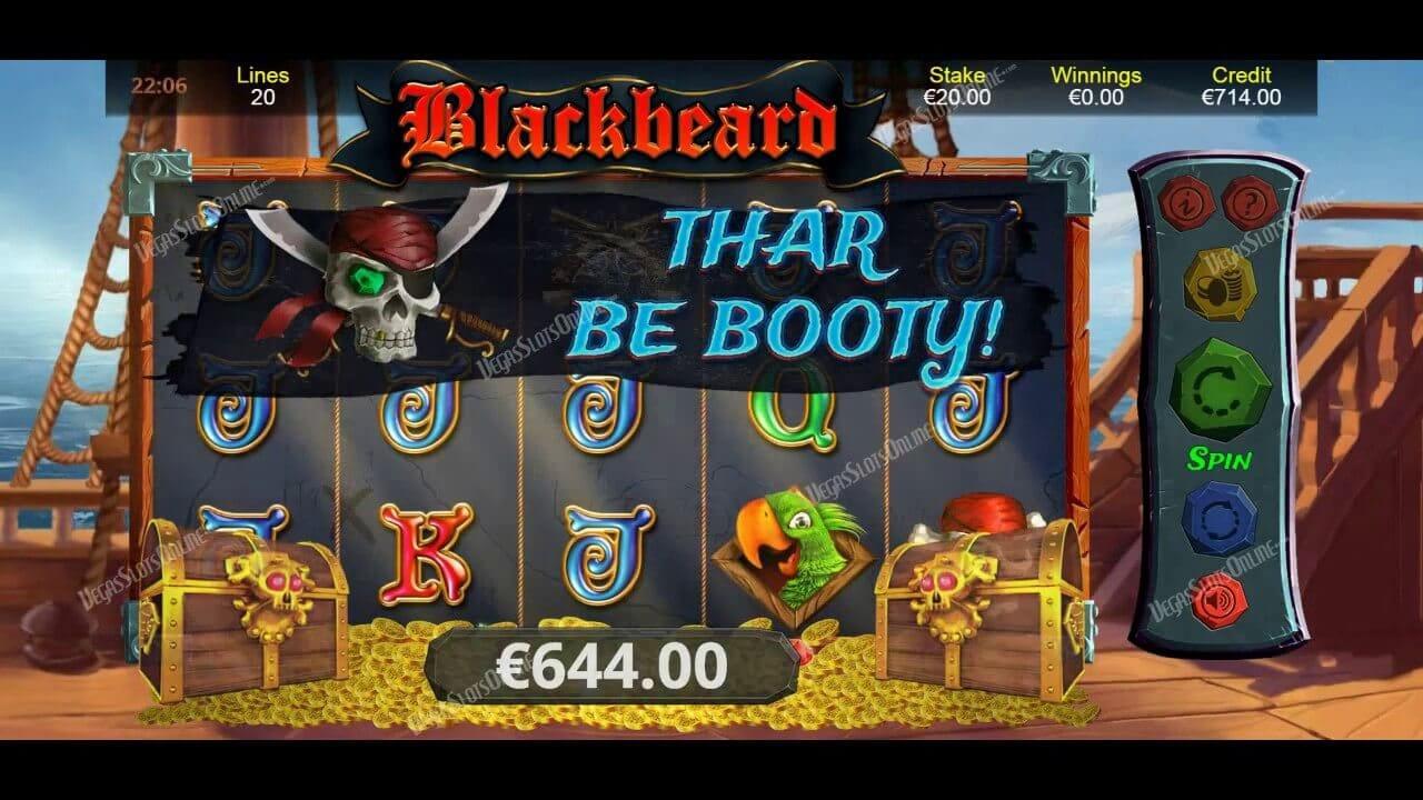 Blackbeard Slot Gameplay