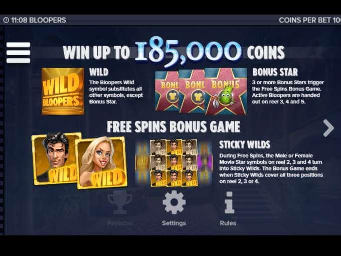 Bloopers Slot Bonus